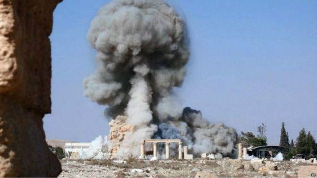 تنظيم الدولة يُفجر معبد بل التاريخي السوري