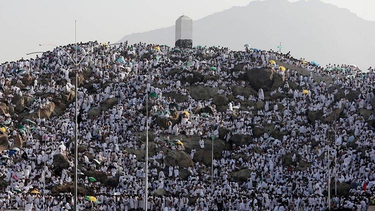 حجاج بيت الله الحرام على صعيد عرفات