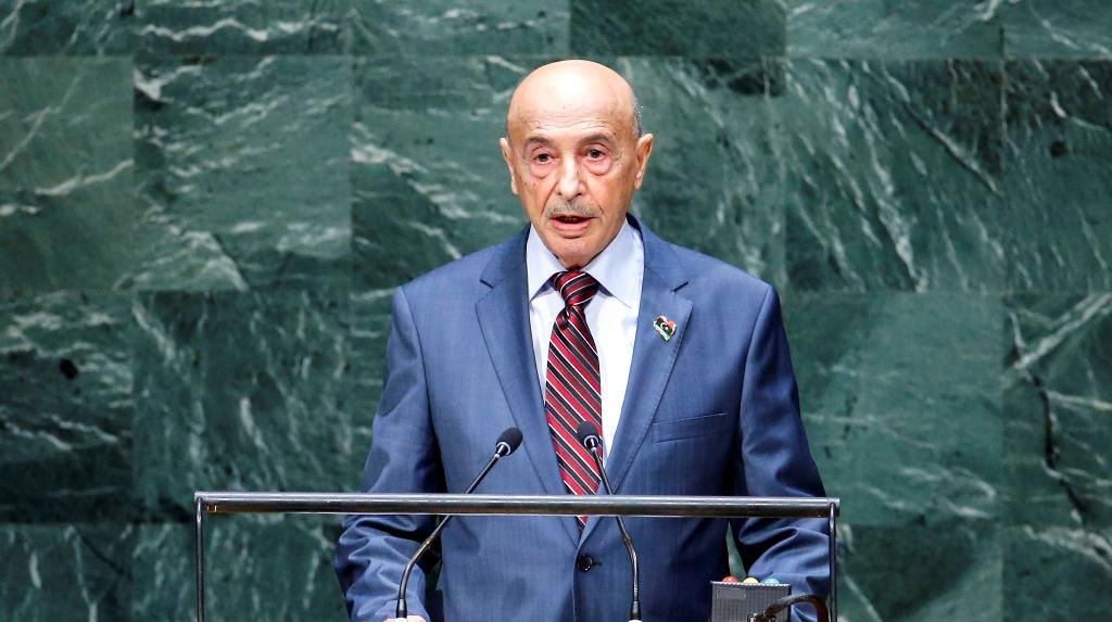 عقيلة صالح يصل نيويورك للمشاركة في إجتماعات الجمعية العام للأمم المتحدة