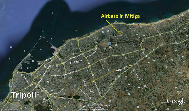مقاتلي داعش ينفذون هجوماً على قاعدة معيتيقة وسط العاصمة الليبية طرابلس