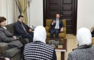 الرئيس السوري بشار الأسد التقى برجال صناعة من دمشق