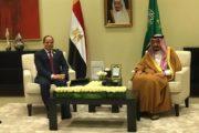 لقاء جمع بين الرئيس المصري و العاهل السعودي على هامش القمة العربية