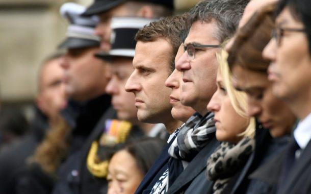 ماكرون ولوبن يشاركان في مراسم تكريم الشرطي ضحية اعتداء الشانزيليزيه