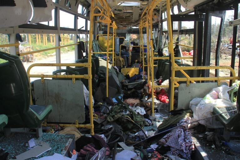 مقتل عشرات الأطفال و الأمهات في تفجير الراشدين شمال سوريا 1