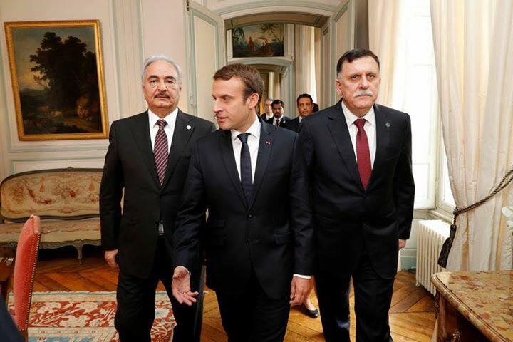 هل سيصلح لقاء ماكرون بقطبي الصراع الليبي السراج و حفتر في باريس ما افسده ساركوزي عام 201111