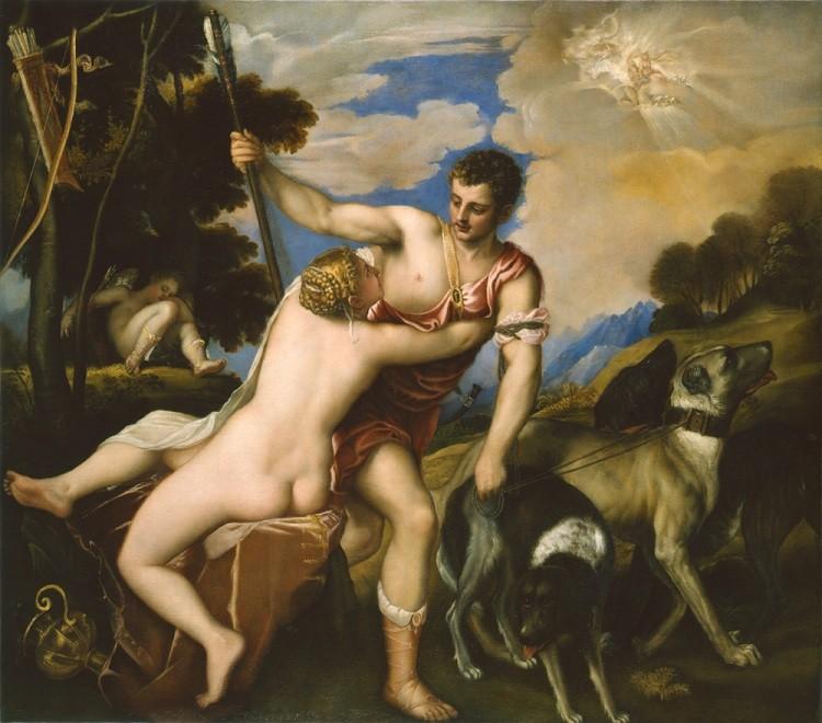 لوحة فينوس وأدونيس تفاجئ متحف بوشكين1