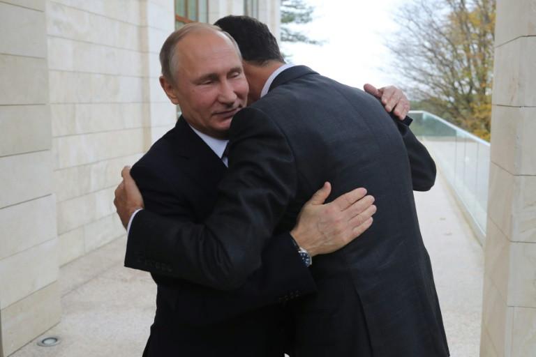 لقاء بين بوتين والاسد في سوتشي قبل قمة روسية-تركية-ايرانية2