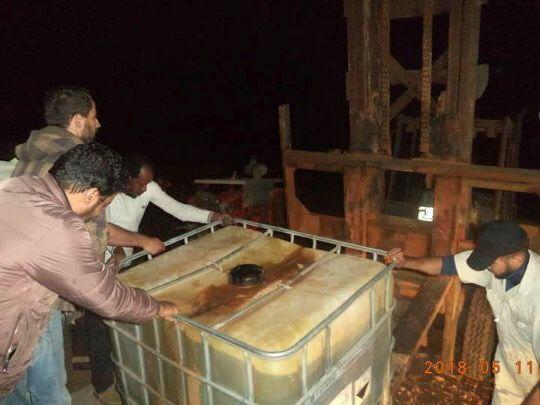 الدلاع و الفساد يتسببان في انقطاع المياه عن سكان مدينة رأس الأنوف النفطية الليبية1