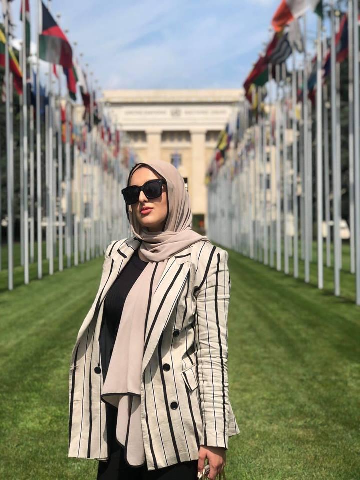 صورة لنور في مبنى الأمم المتحدة في جنيف